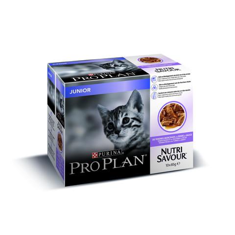Pro Plan Nutrisavour Turkey In Gravy Junior Kitten Pouches 10 X 85g