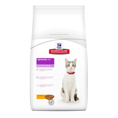 Hills Science Plan Senior 11+ Healthy Ageing Cat Food With Chicken And Rice 2kg