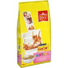Go Cat Complete Kitten Food With Chicken, Carrots And Milk 2kg To 4 X 2kg