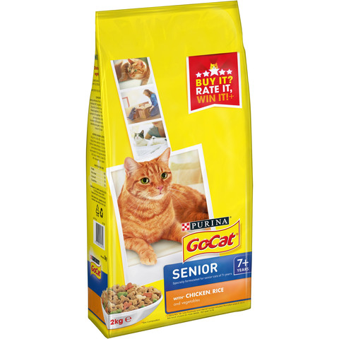 Go Complete Senior Cat 7+ With Chicken, Rice And Vegetables 2kg To 4 X 2kg