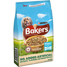 Bakers Puppy Food Chicken And Vegetables 12.5kg