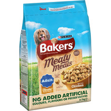 Bakers Meaty Meals Adult Dog Food With Chicken 2.7kg