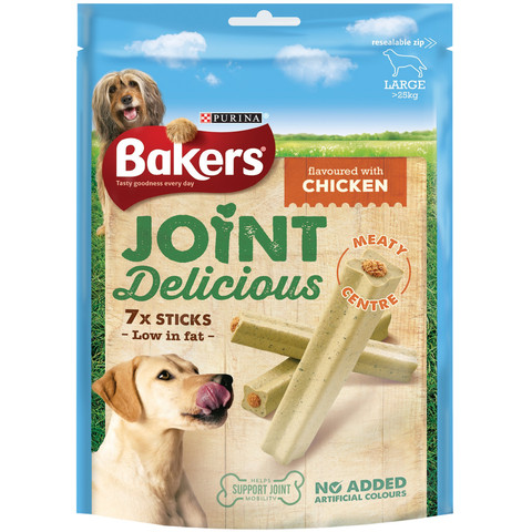 Bakers Joint Delicious Dog Treats With Chicken 6 X Medium To 6 X Large