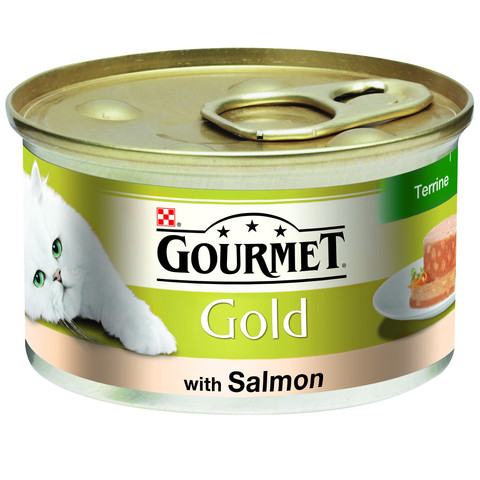 Gourmet Gold Cat Food Terrine With Salmon 85g To 12 X 85g