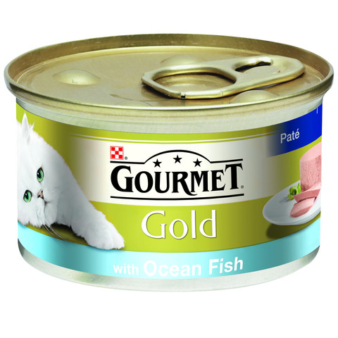Gourmet Gold Cat Food Pate With Ocean Fish 85g To 12 X 85g