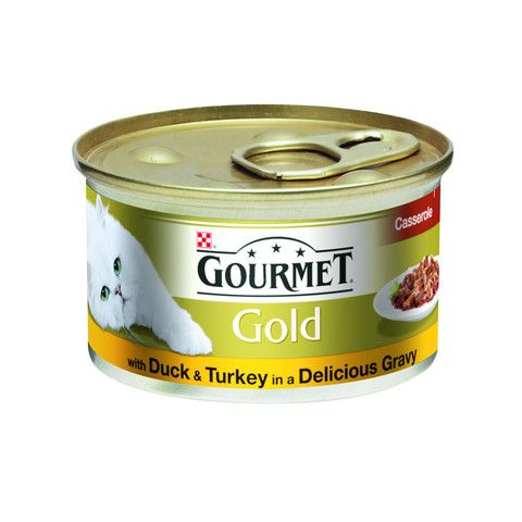 Gourmet Gold Cat Food Casserole Gravy With Duck And Turkey 12 X 85g