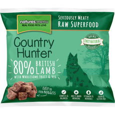 Natures Menu Country Hunter Frozen Raw British Lamb Dog Food Nuggets 1kg