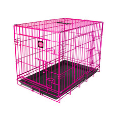 Dog Life Dog Crate Double Door Hot Pink Small