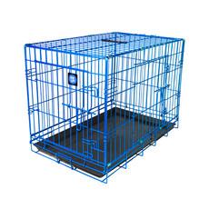 Dog Life Dog Crate Double Door True Blue Small