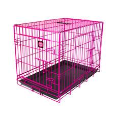 Dog Life Dog Crate Double Door Hot Pink Medium