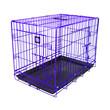 Dog Life Dog Crate Double Door Electric Purple Medium