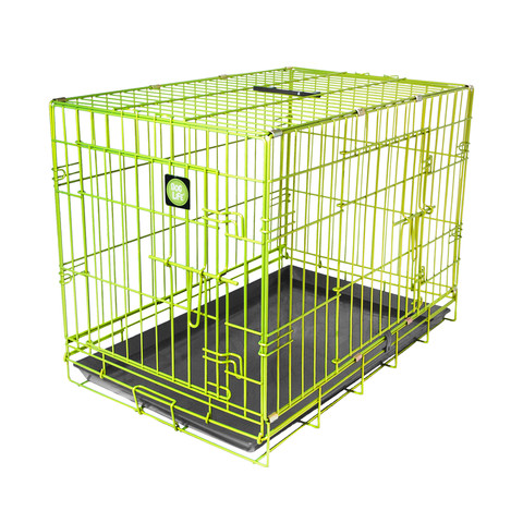 Dog Life Dog Crate Double Door Lime Green Medium