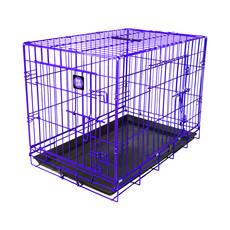 Dog Life Dog Crate Double Door Electric Purple Jumbo