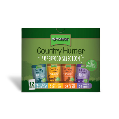 Natures Menu Country Hunter Superfood Selection Grain Free Cat Pouches 12x85g To 3 X 12x85g