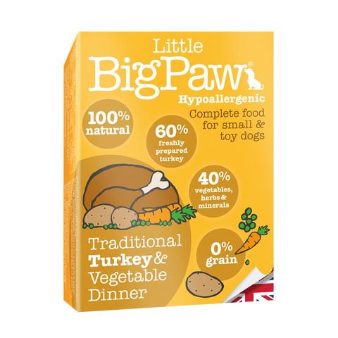 Little Bigpaw Hypoallergenic Turkey Grain Free All Lifestage Wet Dog Food 7 X 150g