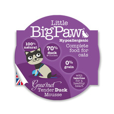 Little Bigpaw Hypoallergenic Duck Mousse Grain Free All Lifestage Wet Cat Food 8 X 85g