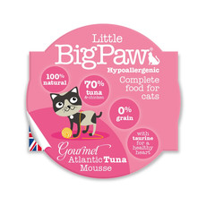 Little Bigpaw Hypoallergenic Tuna Mousse Grain Free All Lifestage Wet Cat Food 8 X 85g