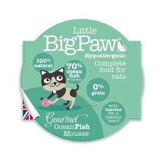 Little Bigpaw Hypoallergenic Ocean Fish Mousse Grain Free All Lifestage Wet Cat Food 8 X 85g