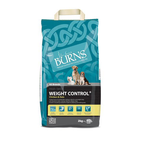 Burns Weight Control + With Chicken & Oats Adult Dog Food 2kg To 15kg