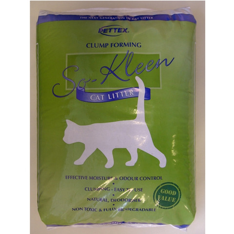So Kleen Grey Basic Clumping Cat Litter 10kg To 20kg