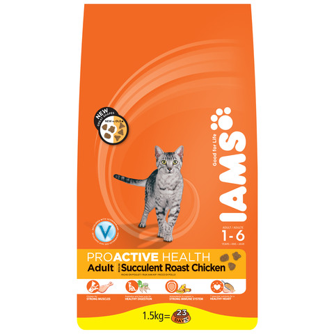Iams Adult Cat Food With Chicken 3kg To 15kg