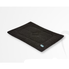 Gor Pets Sherpa Cage/crate Mat In Black 46x61cm To 76x122cm