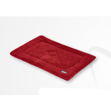 Gor Pets Sherpa Cage/crate Mat In Wine Red 46x61cm To 76x122cm