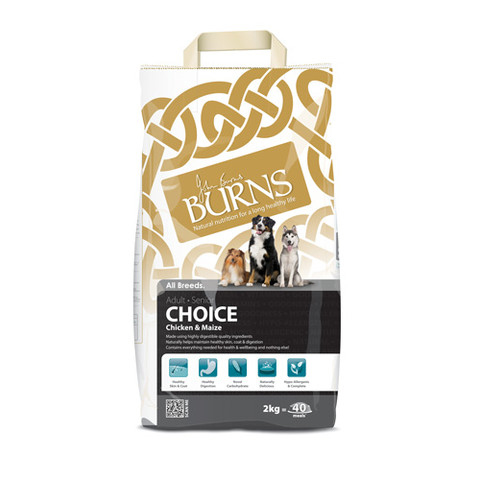 Burns Choice With Chicken And Maize Dog Food 2kg To 12kg