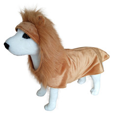Dog Life Christmas Lion Costume Dress Up For Dogs Medium