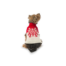 Ancol Christmas Red Snowflake Jumper Dress Up For Dogs Small