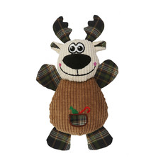 Ancol Christmas Cuddly Reindeer Dog Toy