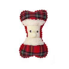 Ancol Christmas Father Christmas Bone Dog Toy
