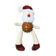 Ancol Christmas Father Christmas Knobbly Santa Dog Toy