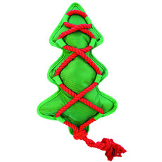 Happy Pet Christmas Cross Rope Christmas Tree Tough Dog Toy