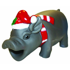 Happy Pet Christmas Hog Roast Honker Latex Dog Toy