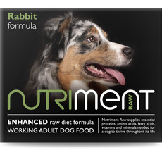 Nutriment Rabbit Formula Raw Frozen Adult Dog Food Tub 500g