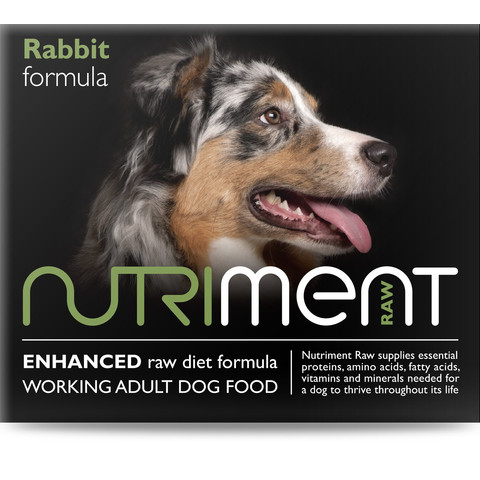 Nutriment Rabbit Formula Raw Frozen Adult Dog Food Tub 500g