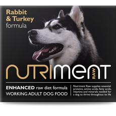 Nutriment Rabbit & Turkey Formula Raw Frozen Adult Dog Food Tub 500g