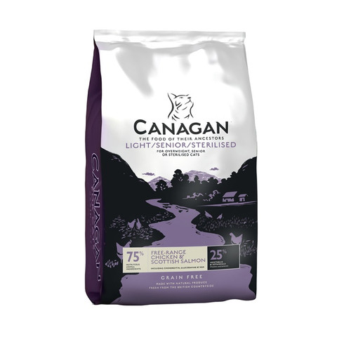 Canagan Light Senior Sterilised Grain Free All Breeds Cat Food 4kg