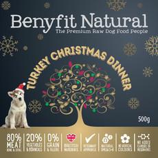Benyfit Natural Turkey Christmas Dinner Premium Raw Frozen Adult Dog Food 500g