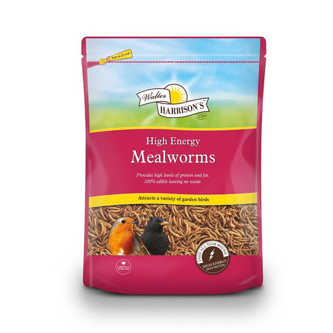 Walter Harrisons High Energy Mealworms For Wild Birds 100g
