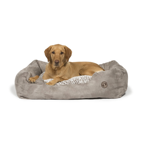 Danish Design Arctic Grey Faux Suede Snuggle Bed 61cm