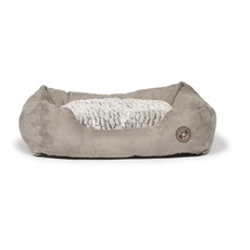 Danish Design Arctic Grey Faux Suede Snuggle Bed 89cm