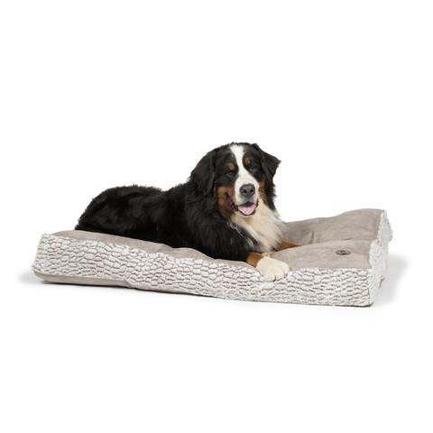 Danish Design Arctic Grey Faux Suede Box Duvet Dog Bed Medium