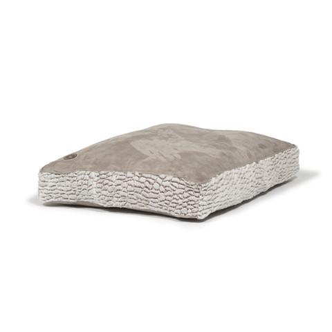 Danish Design Arctic Grey Faux Suede Box Duvet Dog Bed Large