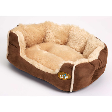 Gor Pets Nordic Brown Faux Fur Snuggle Bed 50cm To 80cm