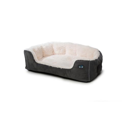 Gor Pets Nordic Grey Faux Fur Snuggle Bed 80cm