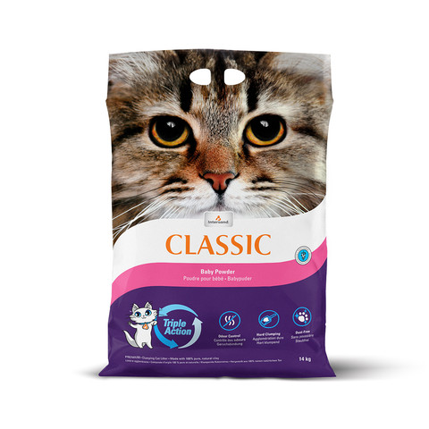 Intersand City Classic Clumping Cat Litter Baby Powder Scent 14kg