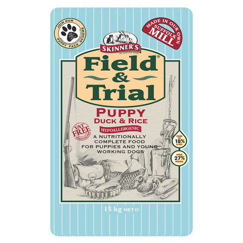 Skinners Field And Trial Puppy Duck And Rice Dog Food 15kg