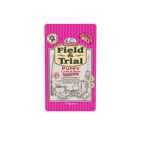 Skinners Field And Trial Puppy Lamb And Rice Dog Food 15kg